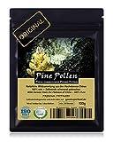 PINE POLLEN (Pinien Pollen) - Natürliche Wildsammlung   TOP-Qualität vom NR.1-Original   100% rein + laborgeprüft auf Schadstoffe   GMP + ISO-9001 zertifiziert   frisch geerntet   roh vegan   100g