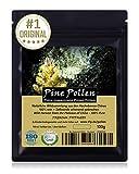 PINE POLLEN (Pinien Pollen) - Natürliche Wildsammlung | TOP-Qualität vom NR.1-Original | 100% rein + laborgeprüft auf Schadstoffe | ISO-9001-zertifiziert | Stets frisch geerntet | roh vegan | 100g